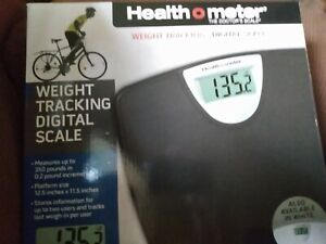 HealthOMeter Weight Tracking digital scale black