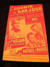 Partition Le chemin de San José Jacques Hélian Patrice et Mario Music Sheet