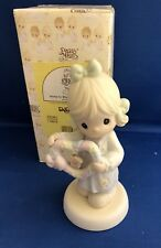 1998 Precious Moments Figurine HOME IS WHERE THE HEART IS Girl with heart 325481