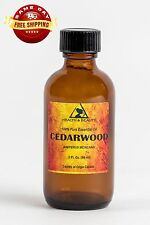 CEDARWOOD ESSENTIAL OIL ORGANIC by H&B Oils Center GLASS BOTTLE 2 OZ, 59 ml