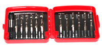 "13 pcs Combination Drill & Tap Bit Set with Quick Change Adapter 1/4"" Shank HSS"