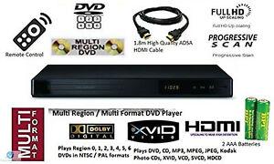 Multi Region 1080P Upscaling DVD Player Plays Region 0 1 2 3 4 5 6 PAL NTSC NEW