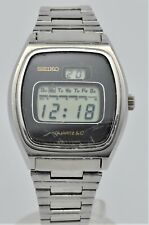 Seiko LC LCD quartz stainless steel gents watch