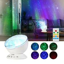 Ocean Wave Music LED Night Light Projector Remote Lamp Atmosphere White UK