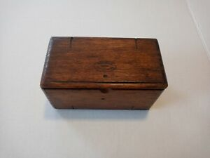 Antique Singer Sewing Kit Wooden Puzzle Box w/ Sewing Attachments