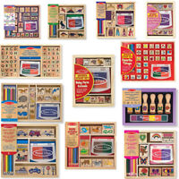 Melissa & Doug Kids Role Play Children Learning Toys - Stamp School Sets
