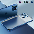 Matte Plating Case For iPhone 13 Pro Max 12 11 XS XR 8 7+ Shockproof Clear Cover