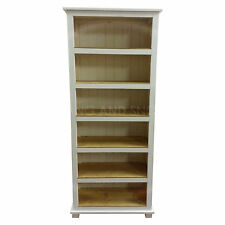 HAND MADE SOLID PINE FLORIDA WHITE BOOKCASE (ASSEMBLED))