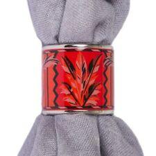 55264 auth HERMES red enamel BRAZIL Scarf Ring
