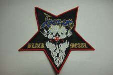 VENOM BLACK METAL SHAPED     EMBROIDERED  PATCH