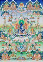 "Thangka Akshobhya "" Feinste Qualité "" Bouddha Nepal Tibet Bouddhisme T03"