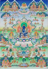 "Thangka Akshobhya ""feinste Qualität"" Buddha Nepal Tibet Buddhismus T03"