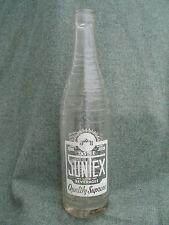 OLD VINTAGE 1950s SUNTEX SODA WATER GLASS ACL BOTTLE AUSTIN TEXAS TX