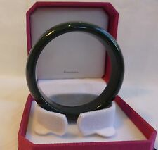 Cetified  light  black HeTian jade bangle bracelet, Gemstone bangle Dia 58mm