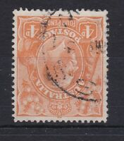 G668) Australia 1915-20 KGV 4d Buff Orange, wmk. Inverted. Fine used cds