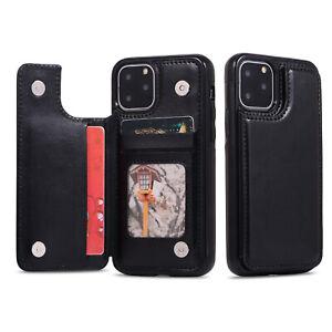 Phone Case iPhone SE 2020, 13 12 Mini / Plus / Max Back Flip Leather Wallet Card