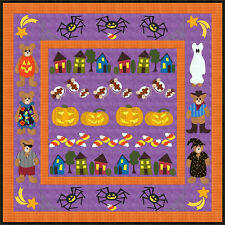 New Applique Quilt Pattern HALLOWEEN ROW BY ROW 82x82
