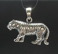 STERLING SILVER PENDANT TIGER 925 NEW CHARM QUALITY PE000391 EMPRESS SOLID