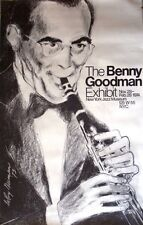Benny Goodman Rare Black & White Lithograph Signed By Artist LeRoy Neiman