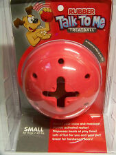 Talk To Me Red Rubber Treatball Toy Ball for Dogs 7-40 lbs Record Your Voice