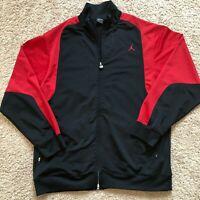 Air Jordan JUMPMAN Men's Size XL Full Zip Jacket Black and Red Color