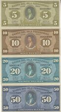 Fernandina Island Set 8 banknotes 2016 UNC (private issue)