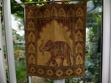 More details for vintage indian elephant tapestry style wall hanging beautifully detailed