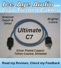 5ft-12 Gauge Ultimate C7 Cryo Treated Power Cord, Cable, Audiophile, Videophile
