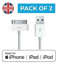 2x Charging Cable Charger Lead (Old Type) for Apple iPhone 4S 3GS iPad 1 2 3
