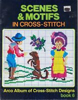 Scenes & Motifs 28 Counted Cross Stitch Patterns Book #6