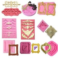 Multiple Style Mirror Frame Silicone Mold  Cake Fondant Mould Decorating Tools