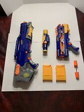 RARE🔫Sniper Nerf N-STRIKE LONGSHOT CS 6 Dart Gun with Clips, Ammo COMPLETE 🔫