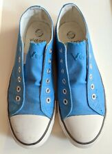 Traum VICTORY Slip On Sneaker Damen 39 blau weiß Sport Turn Schuhe 6 Slipper TOP