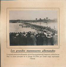PHOTO PRESSE c.1910 - Grandes Manoeuvres Militaires en Saxe  Allemagne - 140