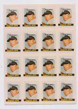 1981 FLEER  Mickey Mantle  STAR STICKER  Sheet New York Yankees