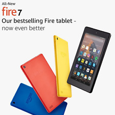 "Amazon Kindle Fire 7 Tablet With Alexa 7"" IPS Display 8gb eBook Reader Yellow"