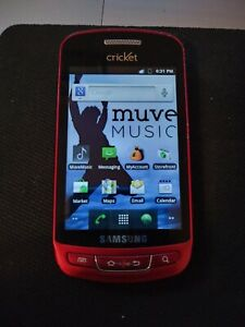 Samsung SCH R720 Vitality Metallic Red CDMA Smart Phone Cricket Wireless 3G