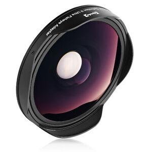Opteka 0.3x Ultra Fisheye Lens for Canon VIXIA HF M400 M41 M50 M500 R60 R600