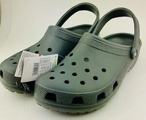 Crocs Classic Clog Comfortable Slip on Casual Water Shoe Slate Grey Men's Sz 14