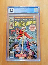 MARVEL SPOTLIGHT #32~ORIGIN & 1ST APP SPIDER-WOMAN **CGC 4.0 WHITE PAGES**