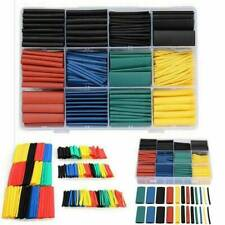 328Pcs Heat Shrink Wire Cable Tubing Tube Sleeve Wrap Shrinkage Ratio 2:1 Set UK