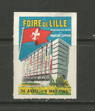 France/Lille 1965 Trade Fair poster stamp/label