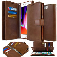 For Apple iPhone 11/XS R Case Dual Flip leather wallet Case Cover 9-card pockets