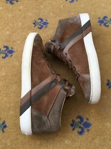 Louis Vuitton Mens Shoes Brown Suede Leather Trainers Sneakers UK 9 US 10 EU 43