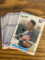 (40) 1988 Fleer Ron Gant Rookie NRMT+ #538 Atlanta Braves Lot