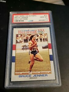 1991 IMPEL US OLYMPIC, BRUCE JENNER/KAITLYN JENNER, HALL OF FAME, PSA GEM MT 10