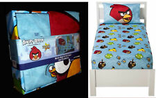 Angry Birds Micro Mink Fitted Twin Sheet and Pillowcase Set NEW