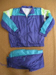 Survetement ADIDAS Nylon Polyester 80'S veste + Pantalon Tracksuit - 186 / XL