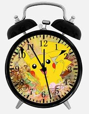 "Pikachu Pokemon Alarm Desk Clock 3.75"" Room Office Decor W24 Will Be a Nice Gift"