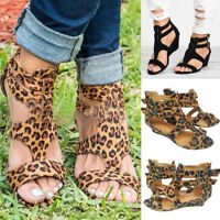 Women Ladies Sandals Summer Wedges Casual Shoes Strap Gladiator Roman Sandals
